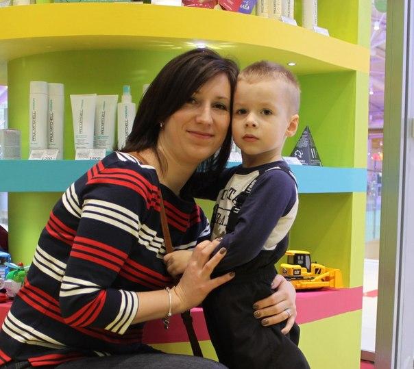 Юлия Биржанова с Никитой